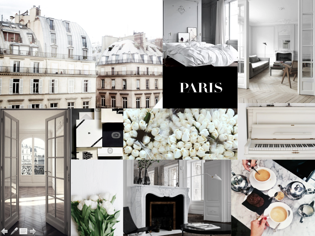 Paris mood board by Anna Mårselius